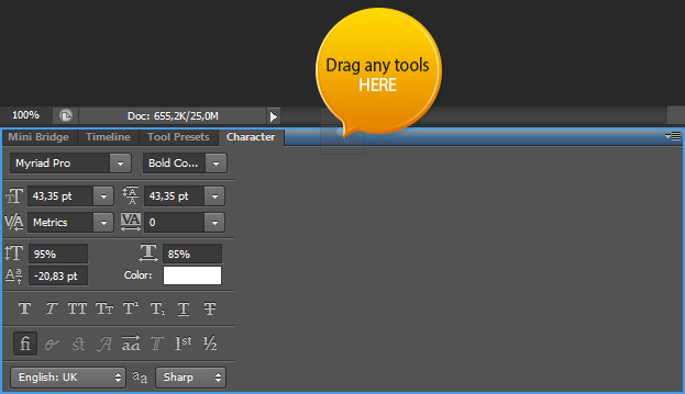Photoshop CS6 - Changes in the User Interface