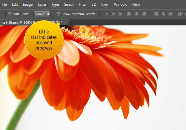New Saving Options in Photoshop CS6 - Background & Auto Save