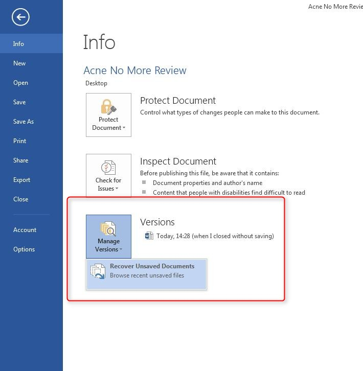 finding autorecovery autosave in word 2013 microsoft community