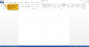 Working with Documents in Word 2013