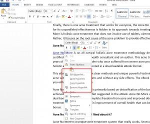 How to insert Hyperlinks in Word 2013