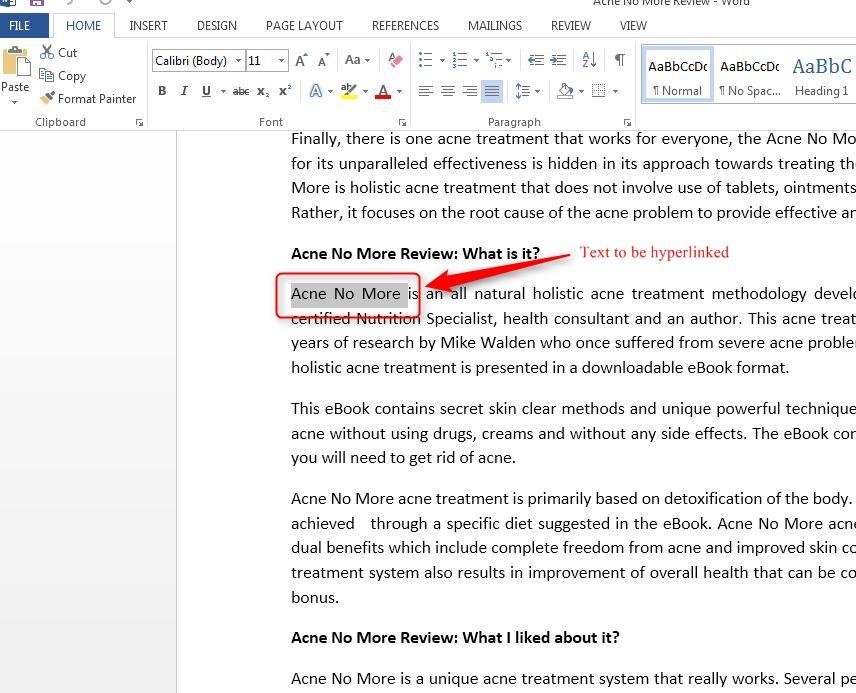 How To Insert Hyperlinks In Word 2013 Wizapps