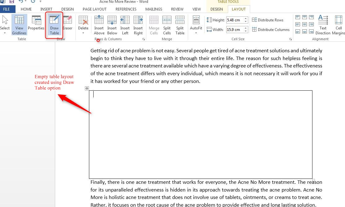 how to insert a column break in word