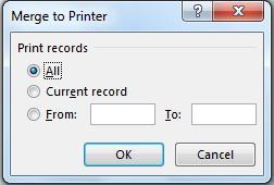 mail merge-print
