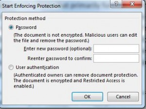 lock text box - enter passwd