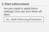 lock text box - start enforcement