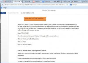 online presentation - browser view online presentation