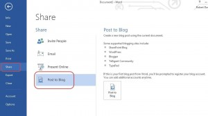 publish blog - main screen
