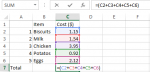 Creating Simple Formulas in Excel 2013