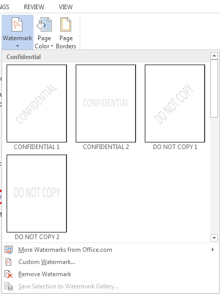 How to Add a Watermark in Word 2013 2