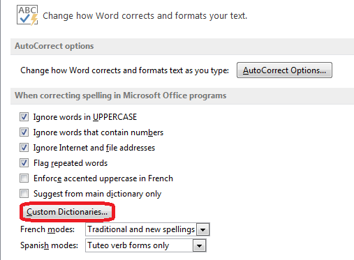 How to Modify Custom Dictionaries in Word 2013 6