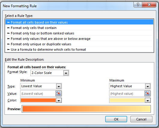 How to Use Conditional Formatting in Excel 2013 7