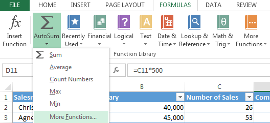 How to Use SUMIF in Excel 2013 3
