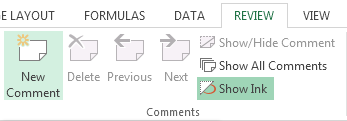 How to use cell comments in Excel 2013 4