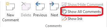 How to use cell comments in Excel 2013 6