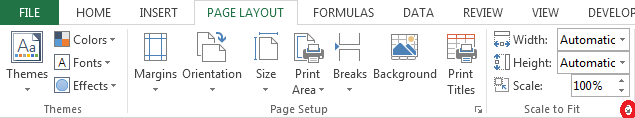 How to use the Scale-to-Fit Printing Option in Excel 2013 3