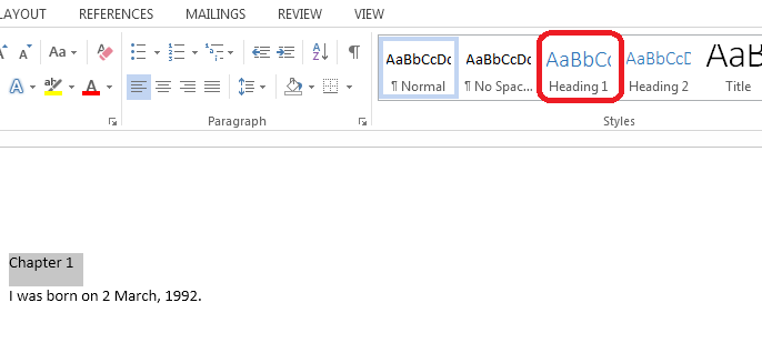 How to Create and Update Table of Contents in Word 2013 2