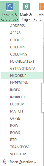 How to Use HLOOKUP Function in Excel 2013 4