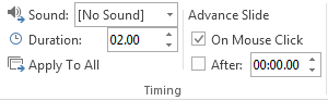 How to Change Transition Speed in PowerPoint 2013 3
