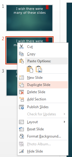 How to Create Duplicate Slides in PowerPoint 2013 6