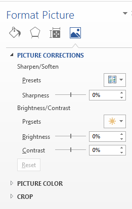 How to Change Image Brightness, Sharpness and Contrast in Word 2013 4