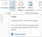 How to Create Labels in Word 2013 2