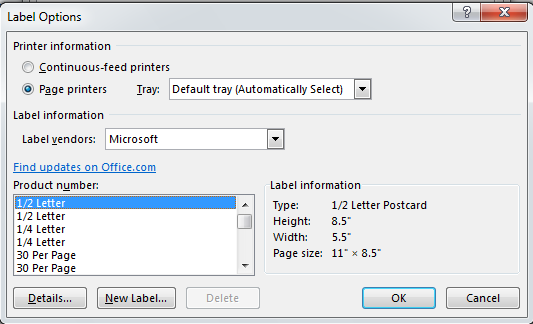 How to Create Labels in Word 2013 4