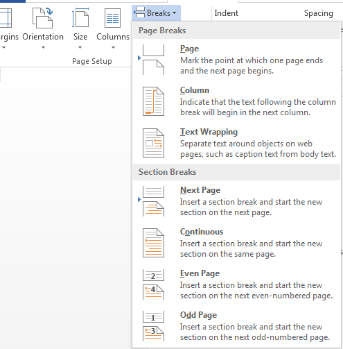 How to Add and Remove Section Breaks in Word 2013 4