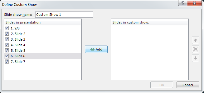 How to Create Custom Shows in PowerPoint 2013 4