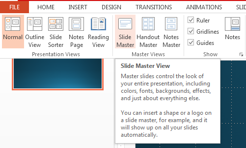 How to Customize a Slideshow Using Slide Master in PowerPoint 2013 2