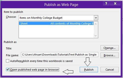 7 - Publishing Step 2