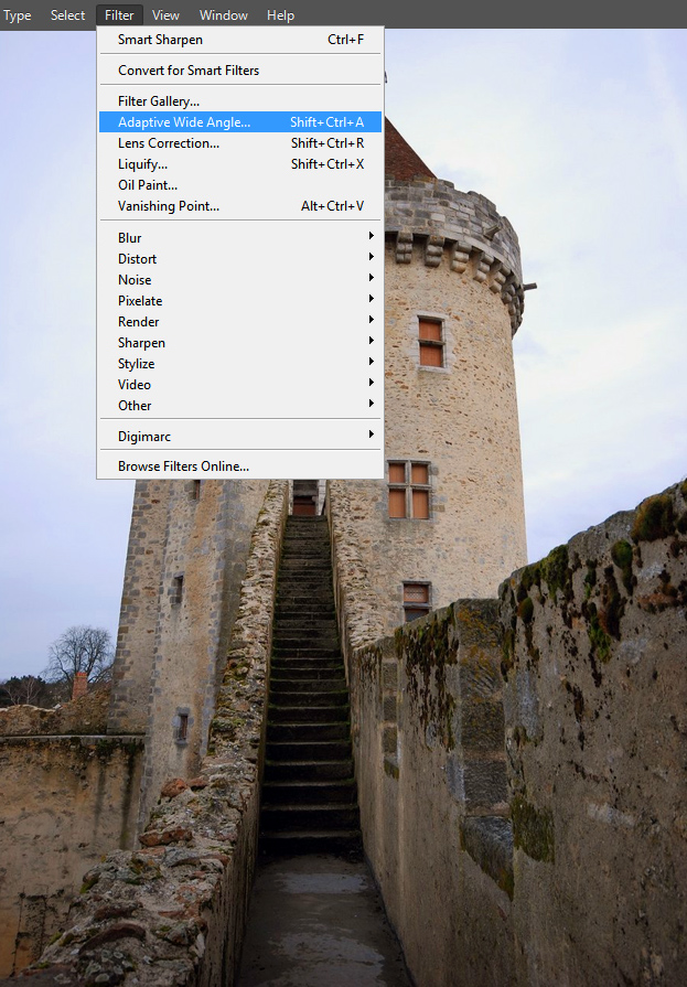 Adaptive Wide Angle - New Feature in Photoshop CS6