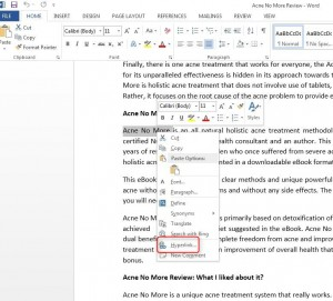 How to insert Hyperlinks in Word 2013