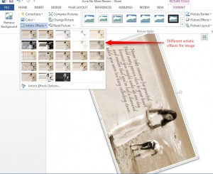 How to insert an Image in Word 2013