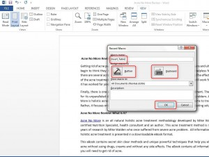 How to create a Macro in Word 2013
