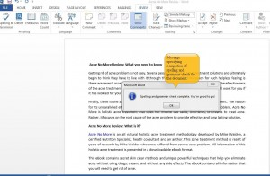 Using Spelling & Grammar Check in Word 2013