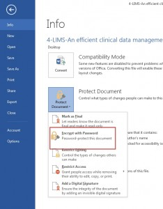 Password Protect your Document in Word 2013