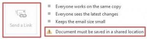 send file email - send link disabled