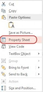 properties text box