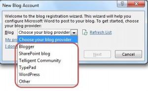 publish blog - new blog account