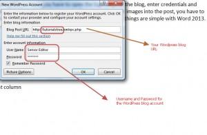 publish blog - wordpress account 1