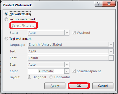 How to Add a Watermark in Word 2013 3