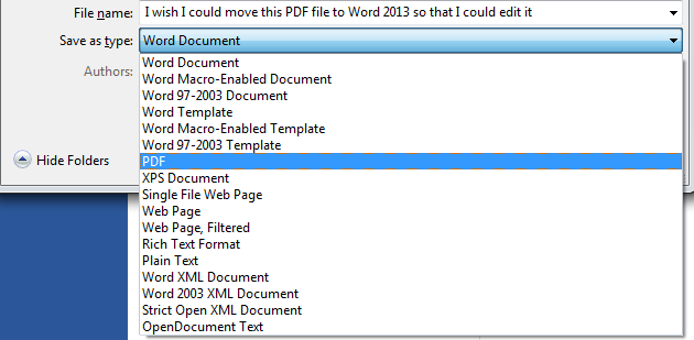 How to Convert Text from a PDF into an Editable Document in Word 2013 4
