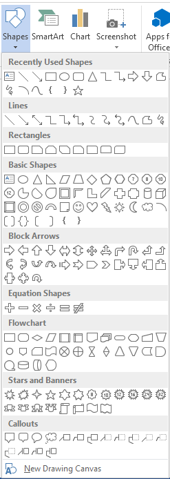 How to Insert Shapes in Word 2013 2