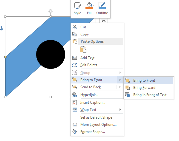 How to Insert Shapes in Word 2013 4