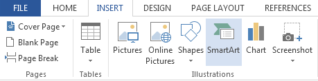 How to Insert SmartArt Graphics in Word 2013 2