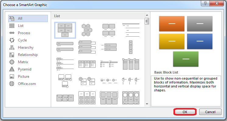 How to Insert SmartArt Graphics in Word 2013 3