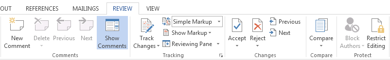 How to Track Changes in Word 2013 2
