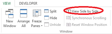 How to Compare Worksheets in Excel 2013 2