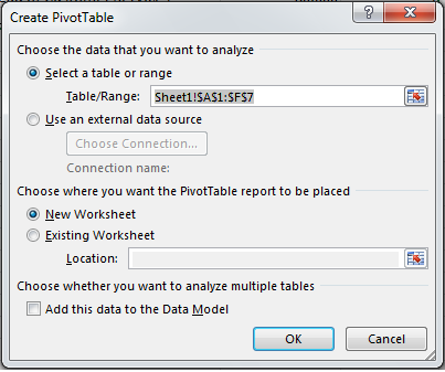 How to Create a PivotTable in Excel 2013 4